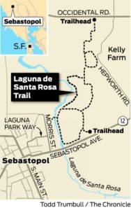 map to Sunrise Walks in Sebastopol, CA
