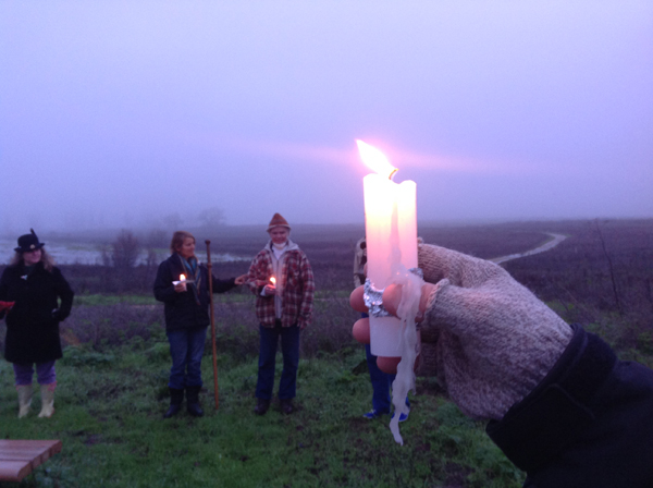 Candlelight during Winter Solstice Walk 2014